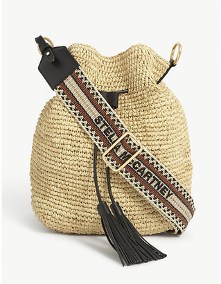 Stella McCartney Straw bucket bag