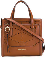 Salvatore Ferragamo Medium Laser Cut tote - women - Calf Leather/Leather - One Size