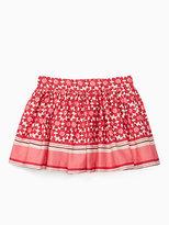 Kate Spade Girls floral tile skirt