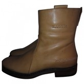 Christian Dior Beige Leather Boots
