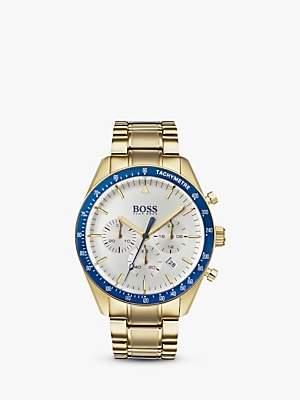 HUGO BOSS 1513631 Men's Trophy Chronograph Bracelet Strap Watch, Gold