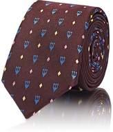 Valentino Men's Trident-Pattern Silk Necktie