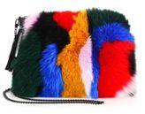 Loeffler Randall Multicolor Fox Fur & Suede Tassel Pouch