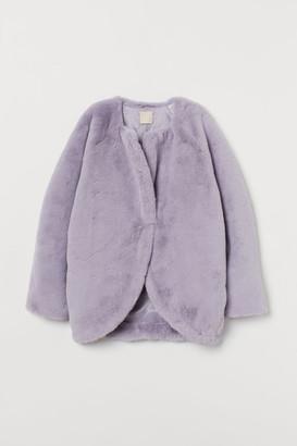 H&M Faux Fur Jacket - Purple