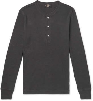 Ralph Lauren RRL Slim-Fit Textured-Cotton Henley T-Shirt