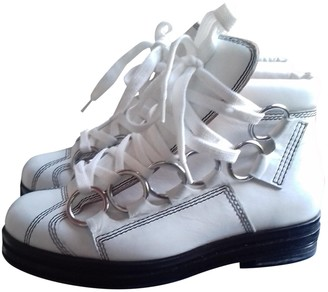 Opening Ceremony White Leather Ankle boots