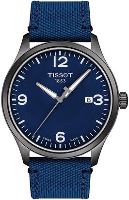 Tissot Gent XL GTS Canvas Strap Watch, 42mm