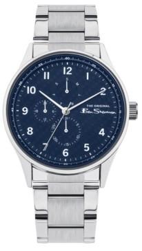 Ben Sherman Men's Silver-Tone Stainless Steel Multifunction Watch, 41mm