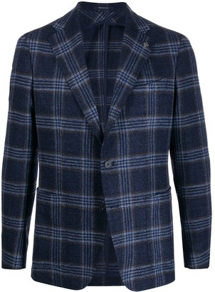 Tagliatore plaid fitted blazer