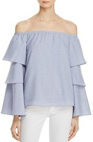 WAYF Brayden Off-The-Shoulder Bell Sleeve Top - 100% Exclusive