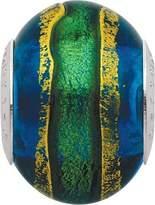 Persona Italian Glass Metallic Stream Charm fits Pandora, Troll & Chamilia European Charm Bracelets