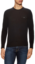 Michael Bastian Solid Flap Pocket Crewneck Sweater