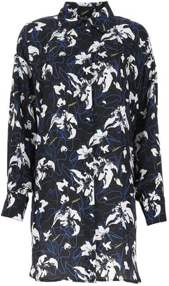 Marcelo Burlon County of Milan Floral Print Oversized Shirt