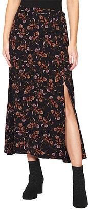 Sanctuary Feeling Free Midi Skirt (Micro Paisley) Women's Skirt