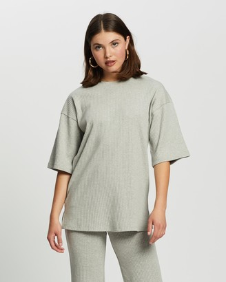 Missguided Co-Ord Ribbed T-Shirt & Culottes Set