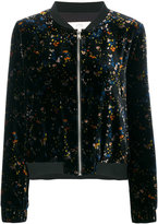 Vanessa Bruno floral pattern bomber jacket - women - Polyamide/Polyester/Spandex/Elastane/Viscose - 40