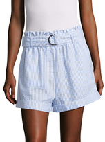 MinkPink Striped D-Ring Paperbag Shorts