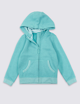 Marks and Spencer Cotton Rich Hooded Sweatshirt (3 Months - 5 Years)