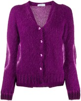 Soallure So Allure contrasting circle knitted cardigan