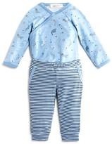 Angel Dear Infant Boys' Dino Print Bodysuit & Striped Jogger Set - Sizes 0-6 Months