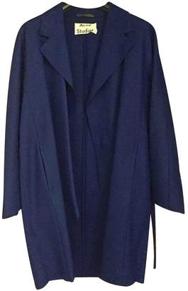 Acne Studios Blue Wool Coat for Women