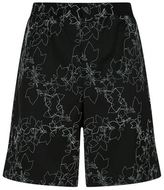 Emporio Armani Embroidered Wool Shorts