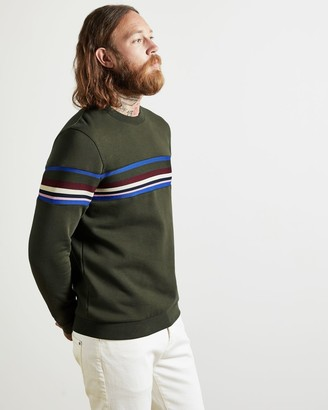 Ted Baker Cotton And Modal Striped Jumper