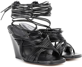 Rick Owens Tangle leather wedge sandals