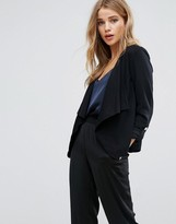 New Look Waterfall Popper Sleeve Blazer