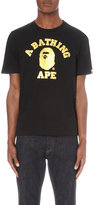 A Bathing Ape Metallic Logo-print Cotton-jersey T-shirt