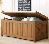 Pottery Barn Hampstead Teak Storage Trunk - Honey