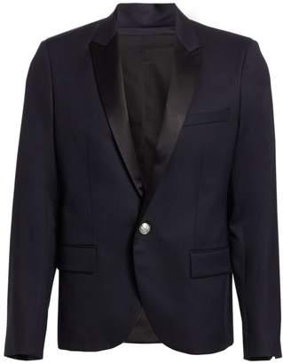 Balmain Satin Button-Front Jacket
