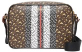 Burberry Monogram Stripe E-canvas Crossbody Bag