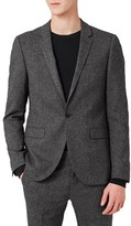 Topman Men's Ultra Skinny Fit Jersey Suit Jacket