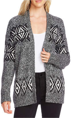 Vince Camuto Fair Isle Open-Front Cardigan