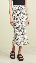 Moon River Leopard Print Skirt