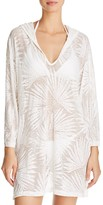 J Valdi Palm Hooded Cover-Up