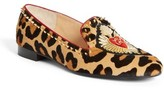Christian Louboutin Women's Mi Corazon Genuine Calf Hair Smoking Flat