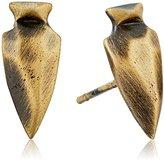 Kendra Scott Stacey Antique Brass Metal Stud Earrings