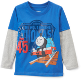 Children's Apparel Network Thomas & Friends Blue Layered Tee - Toddler