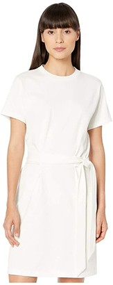 Vince Short Sleeve Waist Tie Dress (Off-White) Women's Dress