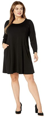Karen Kane Plus Plus Size Pocket Dress (Black) Women's Dress
