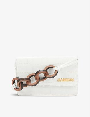 Jacquemus Le Riviera crocodile-embossed leather shoulder bag