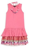 Imoga Toddler's, Little Girl's & Girl's Shanon Two-Piece Ruffle Dress & Necklace Set