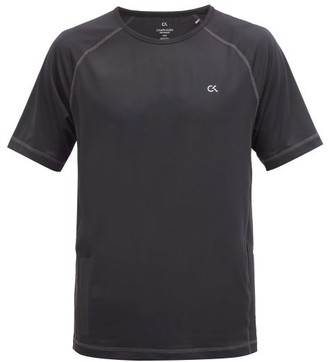Calvin Klein Side-pocket Stretch-jersey T-shirt - Black