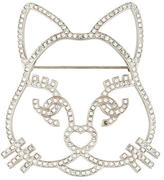 Chanel Crystal Cat Brooch