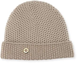 Loro Piana Rougement Chain-Knit Cashmere Beanie Hat