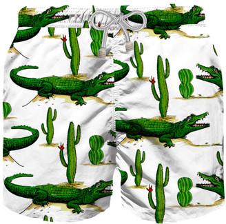 MC2 Saint Barth Crocodile Cactus Boy Swim Trunks