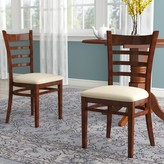 Regal Beechwood Ladder Back Seat Upholstered Dining Chair