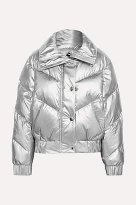 Cordova The Snowbird Metallic Quilted Down Ski Jacket - Silver
